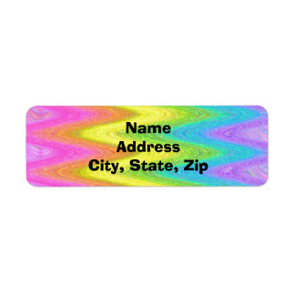 """Rippled Rainbow"" Return Address Label"