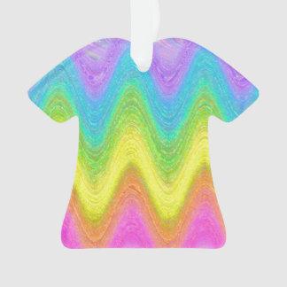 """Rippled Rainbow"" Ornament"