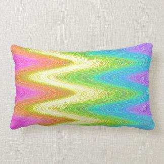 """Rippled Rainbow"" Pillow"