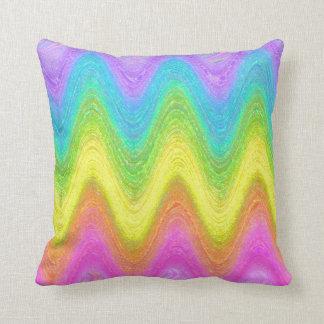 """""""Rippled Rainbow"""" Throw Pillow"""