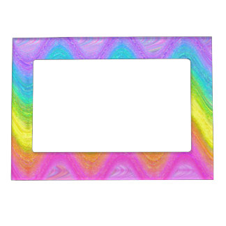 """Rippled Rainbow"" (Version 1) Magnetic Picture Frame"