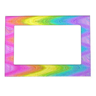 """Rippled Rainbow"" (Version 2) Magnetic Picture Frame"