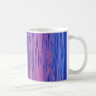 Rippled rainbow water coffee mug