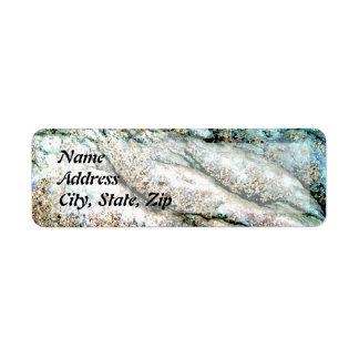 """Rippled Rock"" Return Address Label"