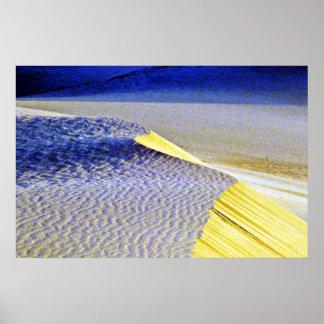 Rippled Sand Dunes Poster