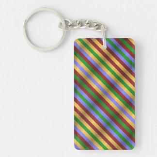 Rippled Stripes Keychain