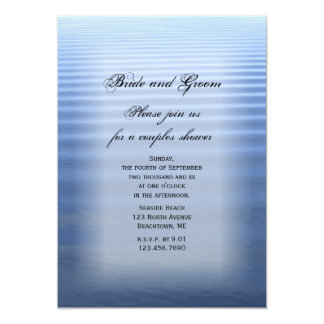 Rippled Water Couples Wedding Shower Invitation
