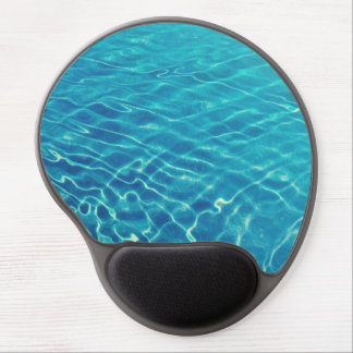 Ripples and wave patterns on crystal clear water gel mouse pad