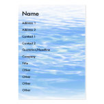 Ripples   business card templates