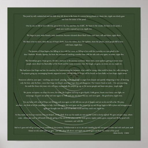 Ripples - Denise Beverly Poster