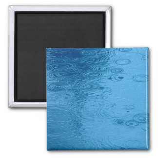 Ripples Form Rain On Puddle 2 Inch Square Magnet