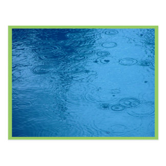 Ripples Form Rain On Puddle Postcard