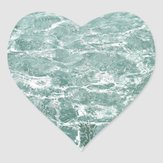 Ripples in Water Heart Sticker