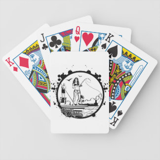 Ripples & NIbbles fishing outfitter logo Bicycle Playing Cards