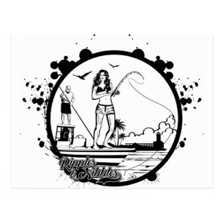 Ripples & NIbbles fishing outfitter logo Postcard