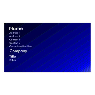 Ripples of Blue - shaded business card template