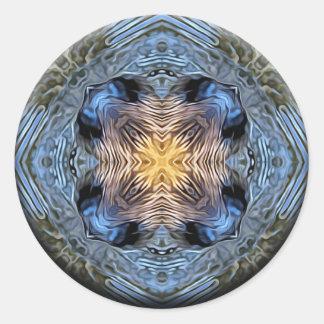 Ripples of Healing Waters Mandala Classic Round Sticker