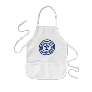 Ripples of life of buds kids' apron