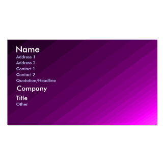 Ripples of Purple - shaded business card template