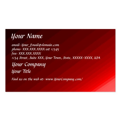 Ripples of Red - business card template