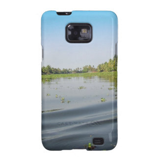 Ripples on saltwater lagoon in Alleppey in Kerala Samsung Galaxy SII Cover