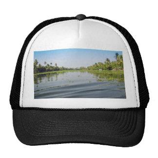 Ripples on saltwater lagoon in Alleppey in Kerala Hats