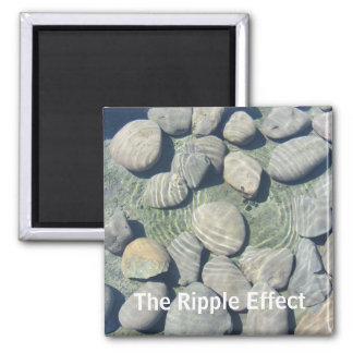 Ripples on the Water 2 Inch Square Magnet