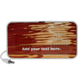 Ripples Orange With Your Text Notebook Speakers