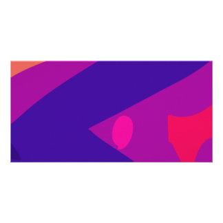 Ripples Purple Photo Card