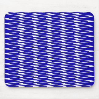 Ripples & Waves- Blue & White Mouse Pad