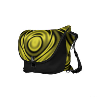 Ripples Yellow Courier Bag