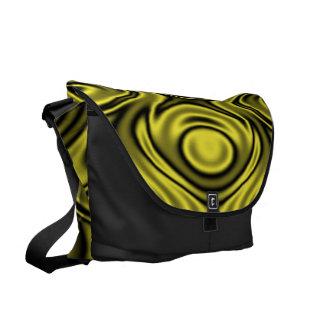 Ripples Yellow Messenger Bag