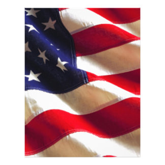 Rippling American Flag Personalized Letterhead