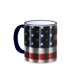 Rippling American Flag Coffee Mug