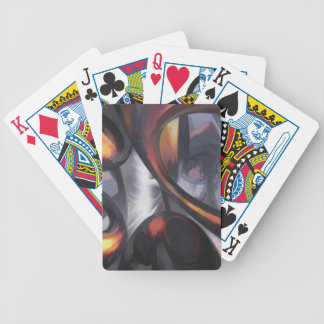 Rippling Fantasy Pastel Abstract Bicycle Playing Cards