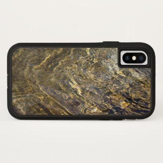Rippling Golden Fountain Water iPhone X Case