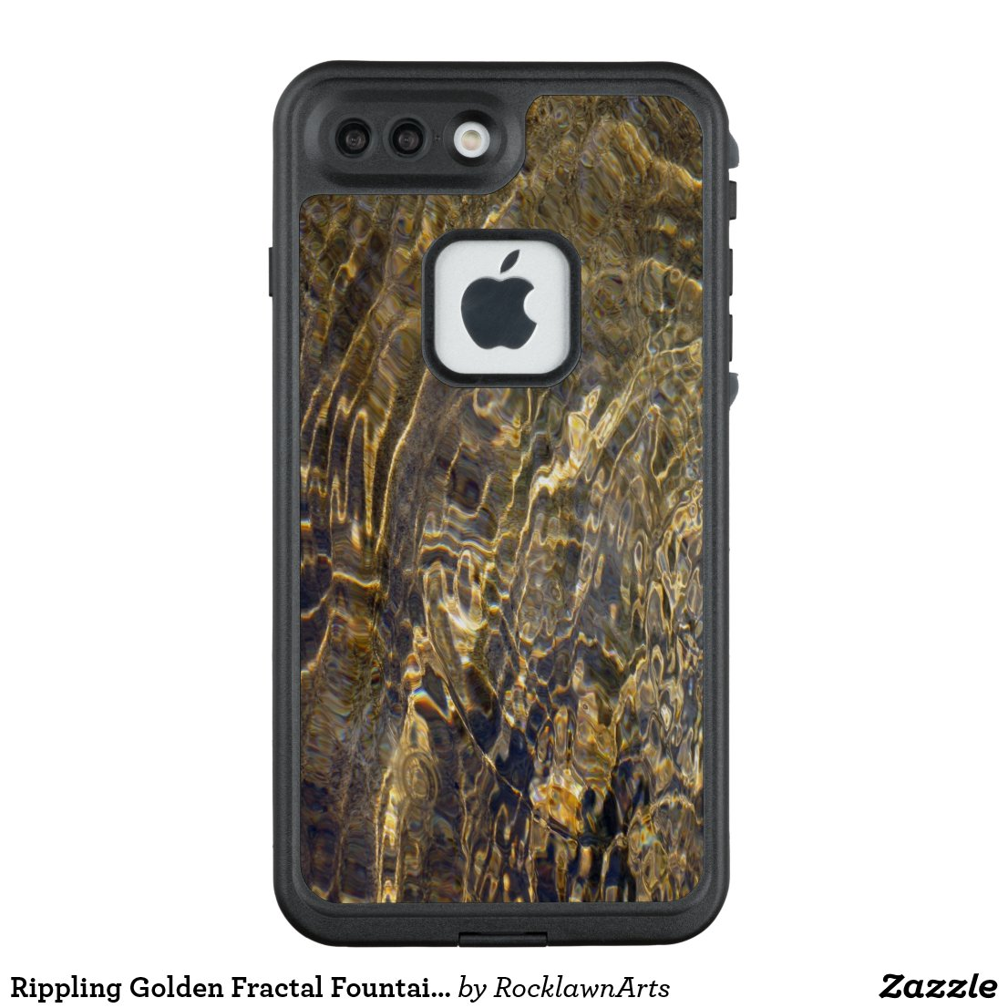 Rippling Golden Fractal Fountain Water LifeProof® FRĒ® iPhone 7 Plus Case