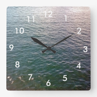 Rippling Water Wall Clock With Numbers