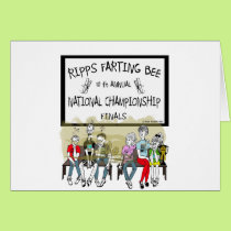 Ripps Farting Bee Card