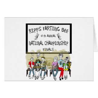 Ripps Farting Bee Greeting Cards