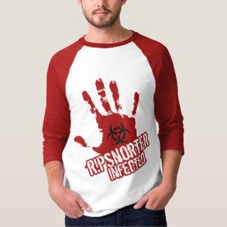 Ripsnorter Infected Basic 3/4 Sleeve Raglan T Shirt