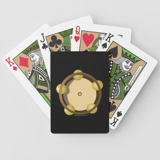 Riq Tambourine Percussion Playing Cards Deck