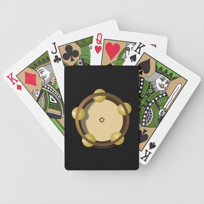 Riq Tambourine Percussion Playing Cards Deck