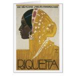 Riquetta Vintage Ad Greeting Card
