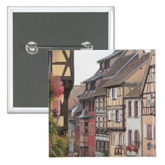 Riquewihr, Alsacia, Francia Pin Cuadrado