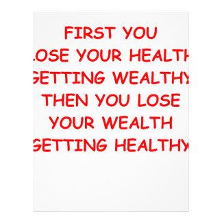 riqueza de la salud membrete a diseño