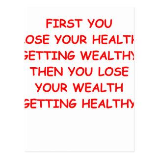 riqueza de la salud postal