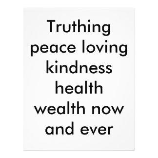 Riqueza pacifista de la salud de la amabilidad de  tarjeton