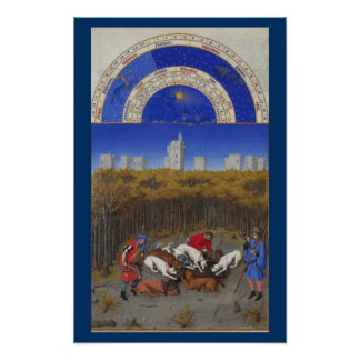 Riquezas Heures - diciembre de Très Póster