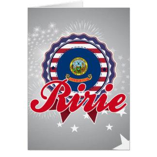 Ririe, identificación tarjeta